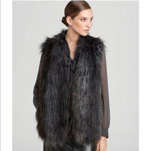 DKNY Faux Fur Vest